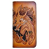OLG.YAT Vegetable tanned leather Retro Genuine Leather Men's Wallets WLRSQL