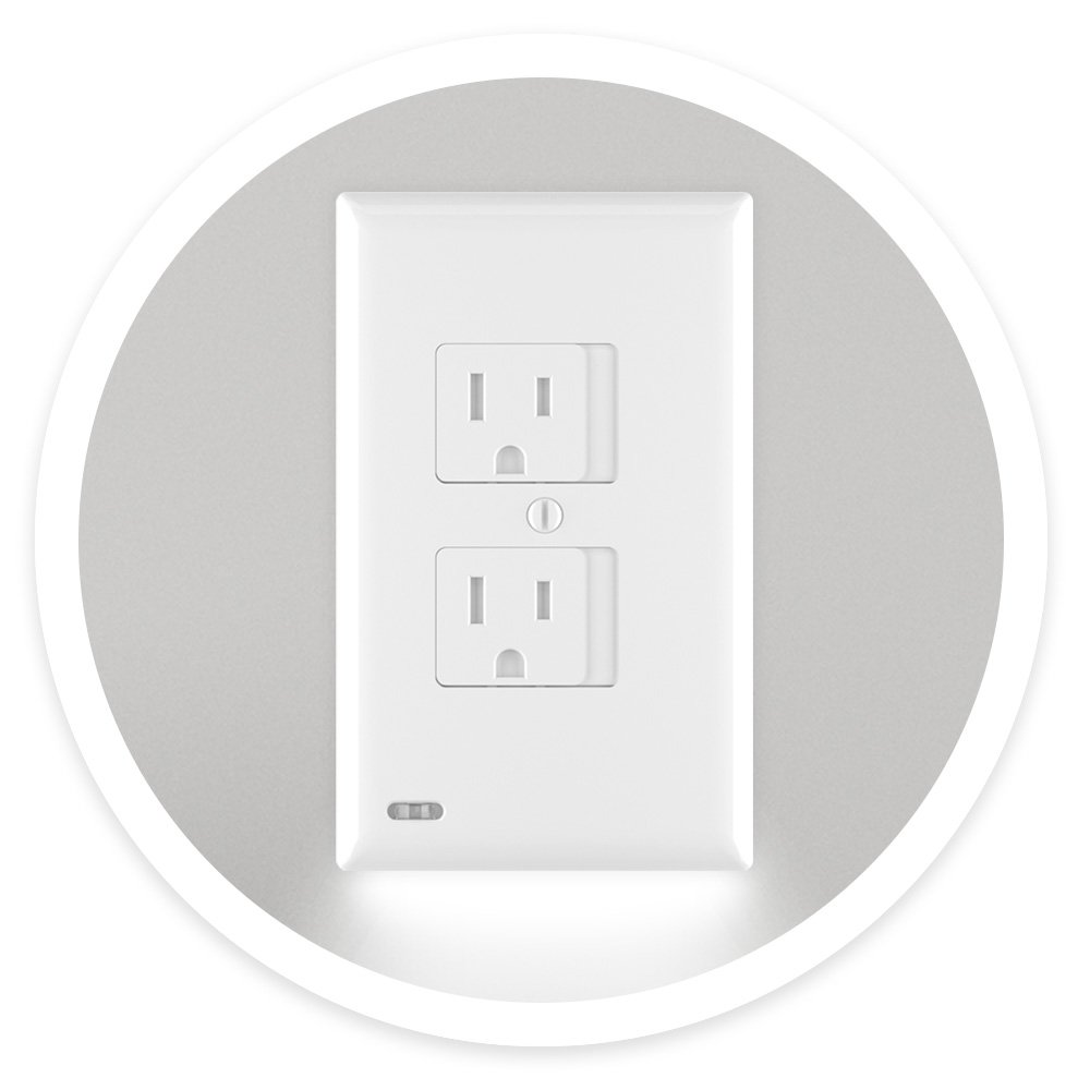 Snappower Safelight Child And Baby Safety Power Outlet Wall Cover