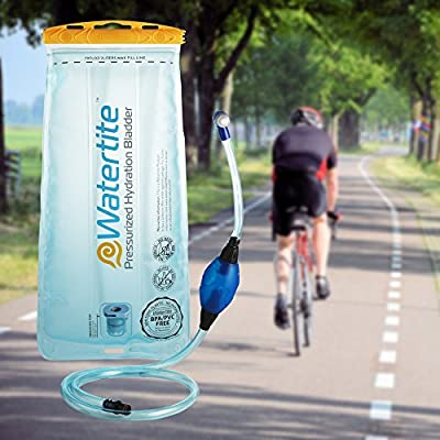 Pressurized Hydration Bladder (2 Liter) by Watertite | Award Winning Outdoor Gear for Cycling Camping Hiking Hunting and Dog Walking | Drinking Water Storage Reservoir Replacement Hydration Pack | NEW