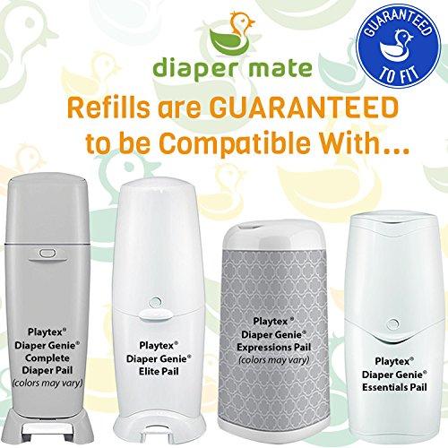Diaper Mate Refill for Diaper Genie Diaper Pails 4 Pack