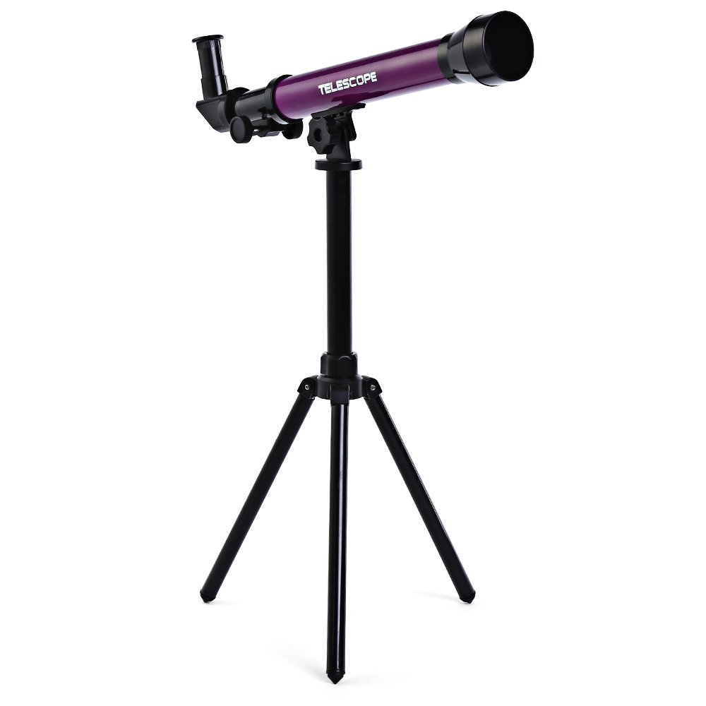 Kidshome Child Telescope Travel Astronomical Refractor Portable Scientific Toy Educational Elementary Astronomy Telescope Eyepiece Nature Exploration Toy Great for Beginners Exploring and Discovering