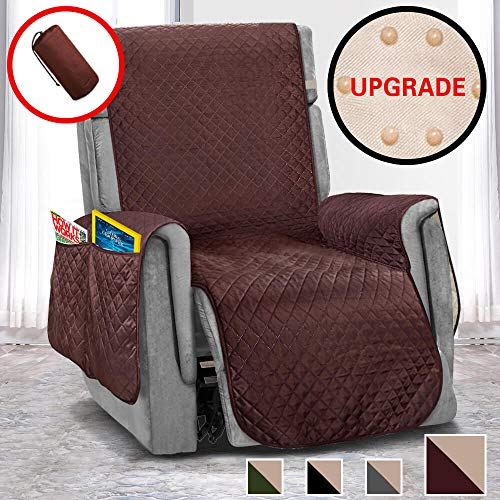 Vailge Oversized Recliner Covers, Durable Recliner Slipover with Back Non-Slip Dots,Machine Washable Recliner Covers for Dogs, Children, Pets(Recliner Oversize:Chocolate)