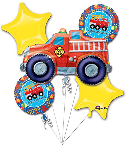 Fire Engine Fun Birthday Bouquet (5 per package) -
