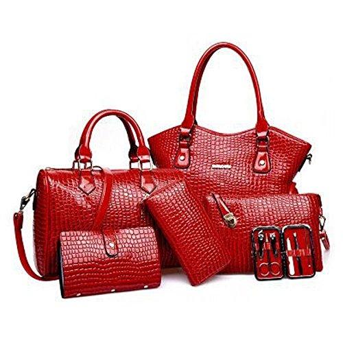 épaule Crocodile femme pièces à A sac six sac diagonale tendance Lady modèle Aoligei pack main unique fashion cross q4ndwq7