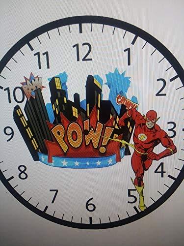 Amazon Com The Flash Wall Cliock Super Hero Gift Childs Room Decor