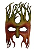 Mystical Treeman Genuine Leather Mask Brown Green Greenman Costume Accessory New