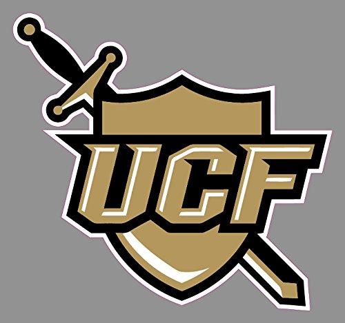 UCF Knights Shield Window Sticker |6 in Logo Truck Emblem Windows Laptops | NCAA College Football Banner