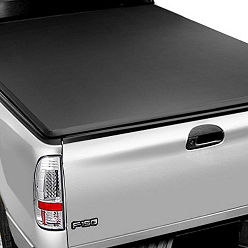 R&L Racing Black Lock & Roll Up Soft Truck Bed Tonneau Cover for 2009-2016 Dodge Ram 1500 | 2500 | 3500 5.7 ft (68.4