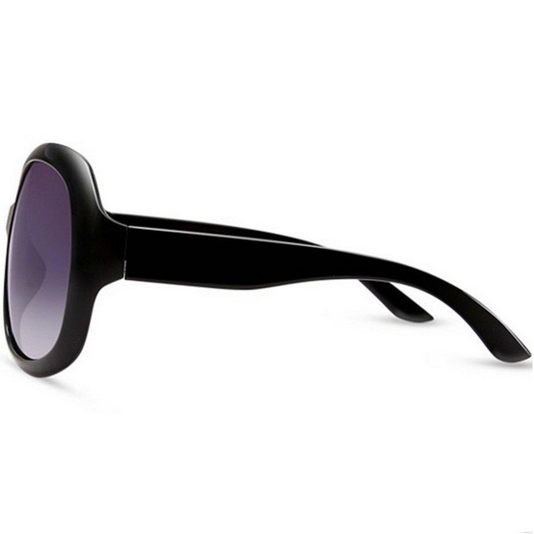 916f96921f OYMI Oversized Women s Polarised Sunglasses Fashion Eyewear UV400 (Black)   Amazon.co.uk  Clothing