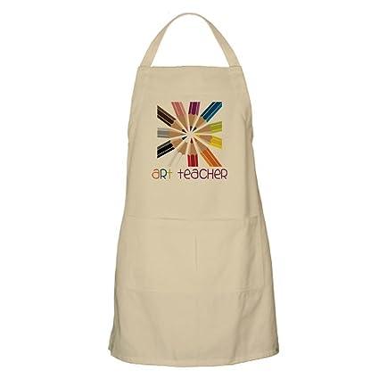 CafePress profesor – Dibujo – Delantal de cocina con bolsillos, delantal de barbacoa, hornear