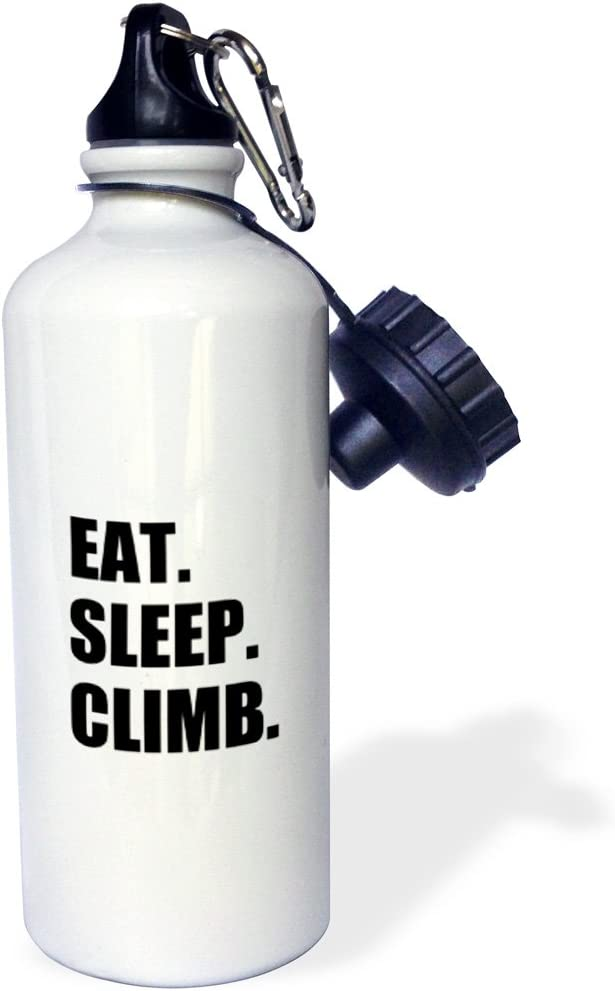 21 oz 3dRose wb/_180390/_1 Eat Sleep Passionate Rock Climber Text-Climbing Hobby Sports Water Bottle Multicolored