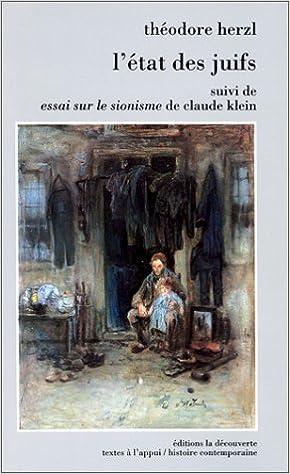 """Lire L'Etat des Juifs suivi de """"Essai sur le sionisme"""" de Claude Klein pdf, epub ebook"""
