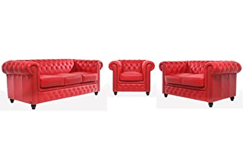 The Chesterfield Brand - Conjunto Sofás Chester Rojo - 1 / 2 ...