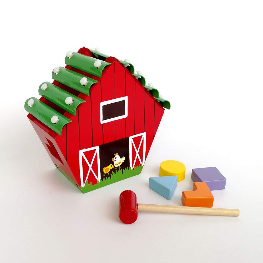Applesauce Wooden Children's Toy Farm Xylophone