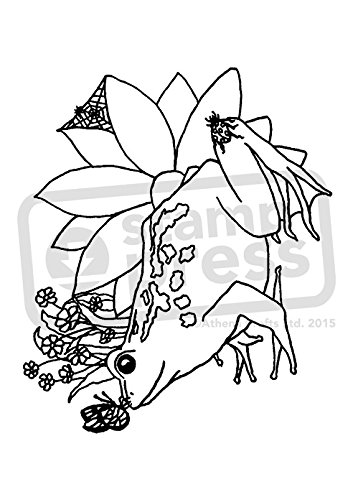 A7 'Frog & Insects' Unmounted Rubber Stamp (SP00005786)