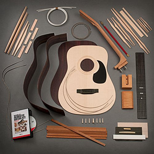 StewMac Build Your Own Dreadnought Acoustic Guitar Kit with Bolt-on Neck, Sitka Top, Rosewood Back & Sides