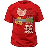Woodstock Music Festival Woodstock Poster Print Men's Classic Cotton Shirt X-Large Red