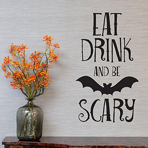 (narutosak Wall Stickers Creative Letters Print Bat Floor Door Window Halloween Party)
