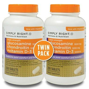 Il suffit de droit glucosamine chondroïtine + vitamine D 3, 200 comprimés, 2 pack