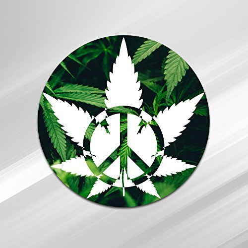 Vincit Veritas Medical Marijuana Peace Vinyl Decal Weed Stickers Medical Cannabis Label Medical Marijuana Labels Pot Leaf Sticker Dab Stickers Cannabis Labels | Premium Quality 4 Inch By 4 Inch | S008 ()