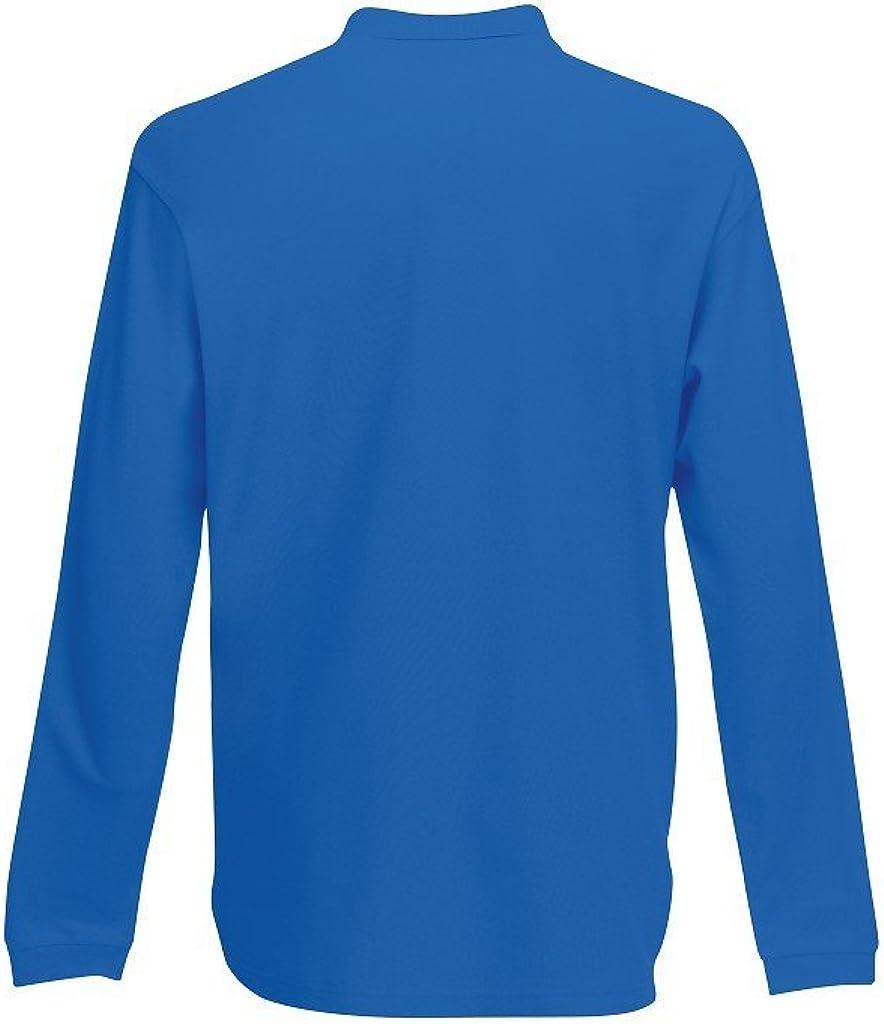 Fruit of the Loom Herren Premium Long Sleeve Polo Poloshirt
