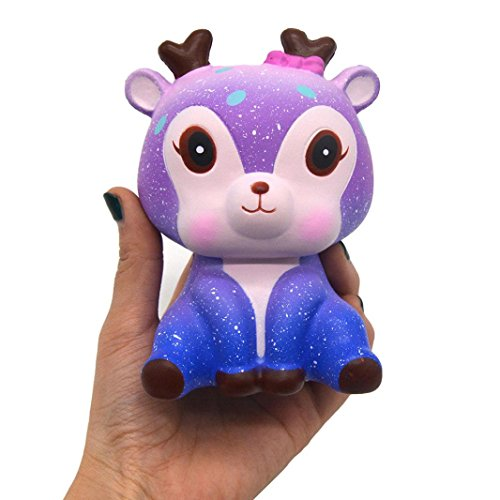 Ankola 2018 New Galaxy Kawaii Deer Squies Slow Rising Cream Scented Squishy Squeeze Toys, Kids Gift, Decompression Toy (Galaxy Toy)