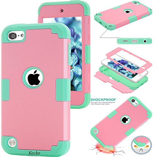 Touch 5/6 Camo Case,Kecko®Dual Layer Hybrid Shockproof Pink Tree Camouflage Bling Diamond Rhinestone Slim Thin Body Armor Protective Hard Rugged Case Cover for ipod Touch 5/6th Generation (P/LB) ()