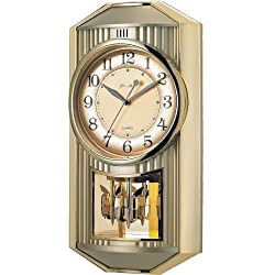 New Haven 6209ARMKS 19 by 10 by 4-Inch Melodies in Motion Pendulum Clock