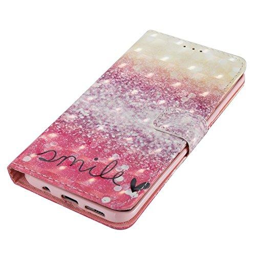 Schutzhülle für Galaxy S8, Galaxy S8 Handyhülle, Vandot Flip PU Ledertasche [High Capacity] abnehmbare magnetische Reißverschluss Tasche Case Card Halter Slots Cover Premium Multi-Function Geldbörse G 3D Motiv 33