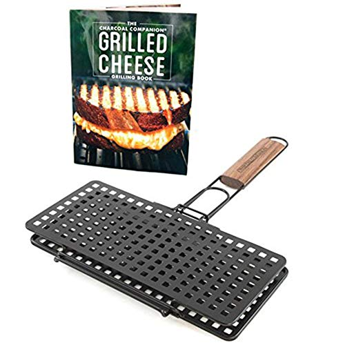 Charcoal Companion Grilled Cheese Press and Recipe Book