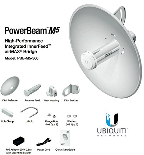 Ubiquiti PowerBeam Antenna (PBE-M5-300) by Ubiquiti Networks