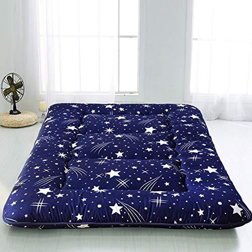 MAXYOYO Navy Starry Sky Japanese Floor Futon Mattress