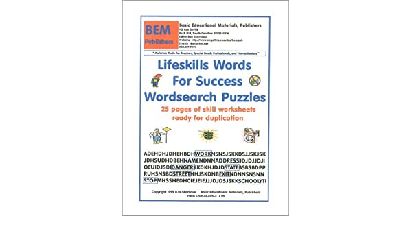 Lifeskills Words For Success Wordsearch Puzzles: Robert W ...