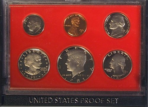 1981 U.S. Proof Set in Original Government Packaging (Rare Us Currency)
