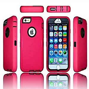 LZX Colorful Heavy Duty Hybrid Rugged Matte Hard Case Soft Cover Skin For iPhone 6(Assorted Colors) , Rose