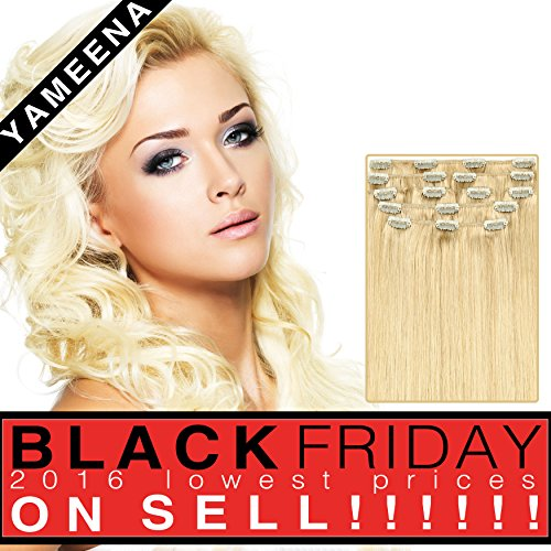 Yameena100% Remy Human Hair Extension Clip in Extensions ...