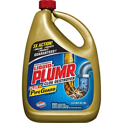 Liquid-Plumr Pro-Strength Full Clog Destroyer Plus PipeGuard, 80 Ounces (Packaging May Vary)