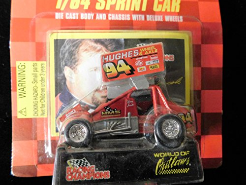 Sprint Car World of Outlaws Kenny Jacobs 1998 Red Checkered Flag Card 1:64 scale die-cast Racer by Racing Champions