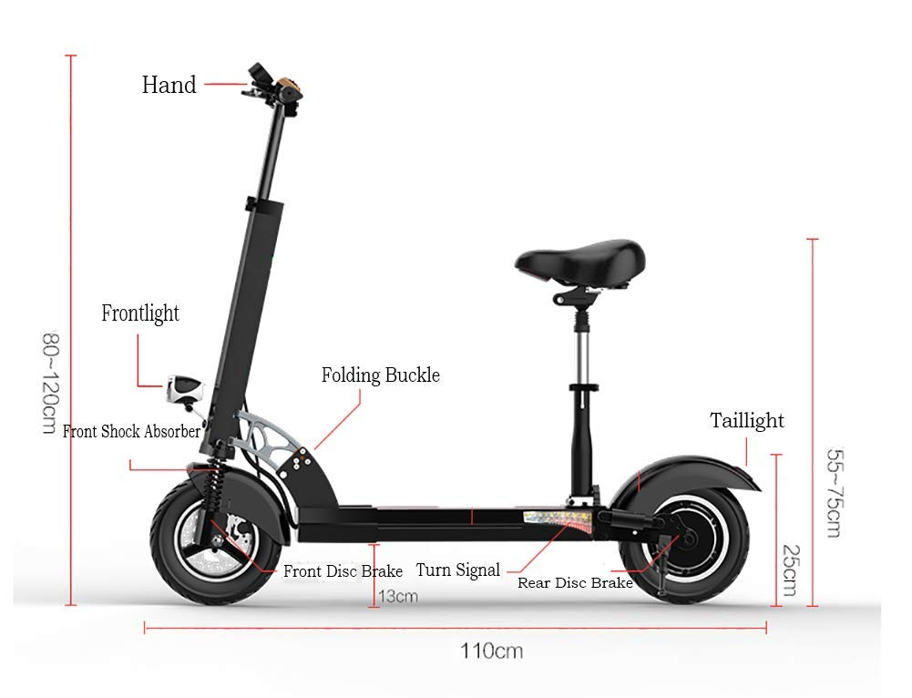 Amazon.com: TX Patinete eléctrico plegable de transporte ...