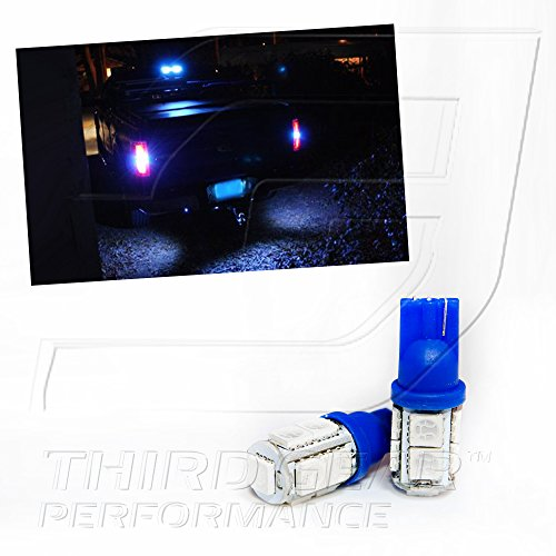 TGP T15 Blue 9 LED SMD 5050 Wedge Reverse / Backup Light Bulbs Pair 2002-2013 Honda Civic (2DR Coupe Model Only)