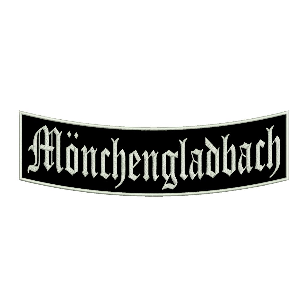 Ein unterer Bogen B1 mit ca Stadtname Aufn/äher M/önchengladbach 35x11cm St/ädtepatch