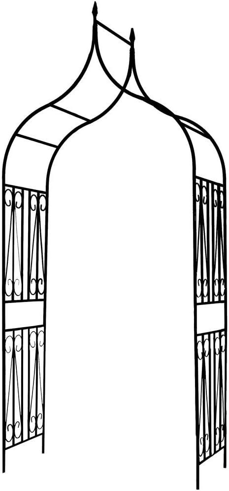 1. GO Gothic Steel Garden Arch, 8'8