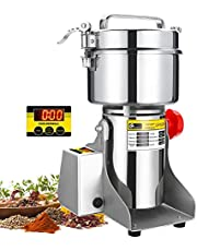 CGOLDENWALL LED Display Electric Grain Grinder Mill High-Speed Spice Herb Mill Commercial Powder Machine Powder Machine Dry Cereals Grain Herb Grinder CE Approved