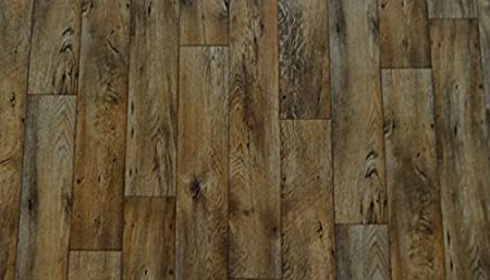 von Alpha-Tex 9.95/€//m/² PVC in rustikaler Holz-Optik L/änge: 400 cm, Breite: 300cm braun