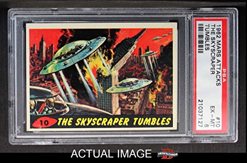 1962 Topps/Bubbles Inc Mars Attacks # 10 The Skyscraper Tumbles (Card) PSA 6 - EX/MT 1827941 from Topps