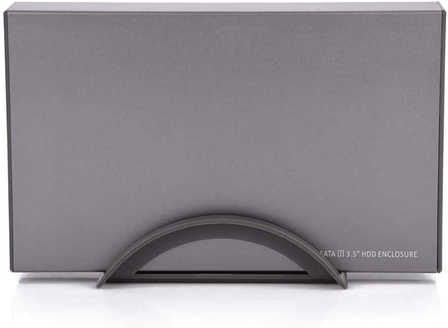 ASHATA 3.5 External HDD Enclosure USB 3.0 High Speed 6Gbps Transmission SATA HDD Case US Plug