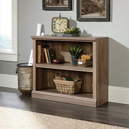 Nova Natural 2 Shelf Bookcase, Wood Storage Bookshelf Furniture, Solid Rack Shelves, Book Shelving Display Organizer for Home, Office with Salt Oak Finish