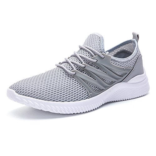 Men's Shoes Feifei Spring and Summer Mesh Non-Slip Fashion Sports Shoes Gray