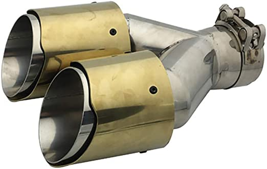 Super-ZS Edelstahl Auspuff Endrohr Schalld/ämpfer flach Mund Auto Auspuff Dekoration 63mm schwarzen Schwanz Hals geeignet f/ür Verschiedene Modelle