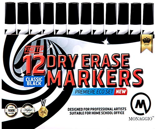 - Black Dry Erase Fine Point Chisel Tip Thin White Board Marker Pens Low Odor Markers for Whiteboard Bulk 12 Pack pk 2 4 6 8 36 Magnetic with Skinny Wet Thick Eraser Broad Bullet Ink Glass Alcohol Count